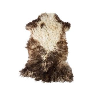 "Contemporary Natural Wool Sheepskin Pelt - 2'2""x3'3"" For Sale"