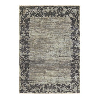 """Contemporary Hand Woven Rug - 3'10"""" X 5'7"""" For Sale"""