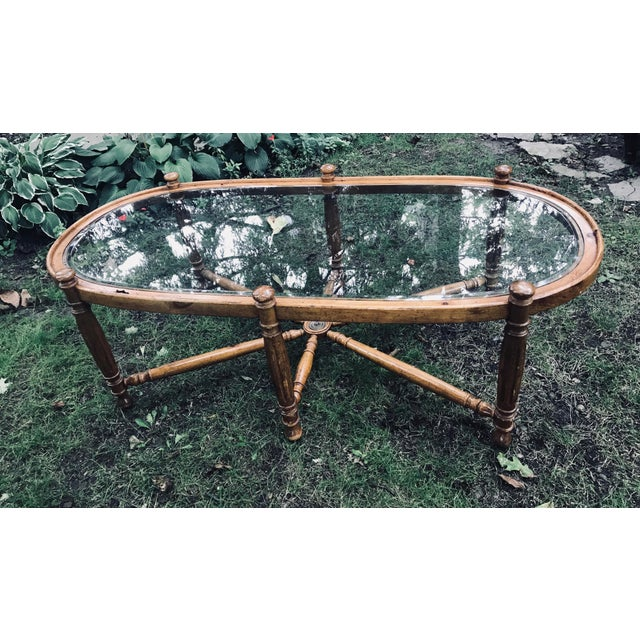 Olive wood vintage table. Could be painted, but beautiful, as is. Would look great in a beach style/ nautical home.