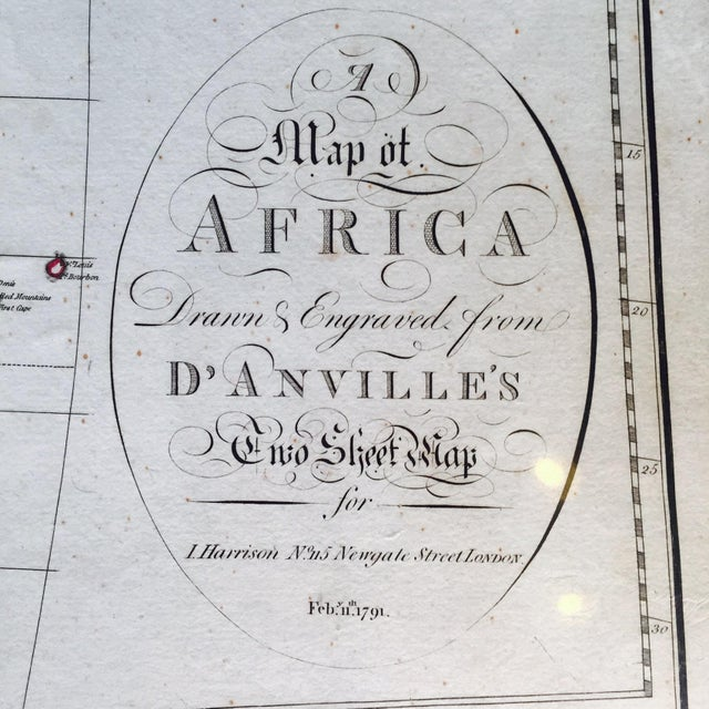 Vintage 1791 d'Anville Map of Africa For Sale In Pittsburgh - Image 6 of 7