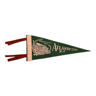 Vintage Atlantic City, New Jersey Pennant For Sale