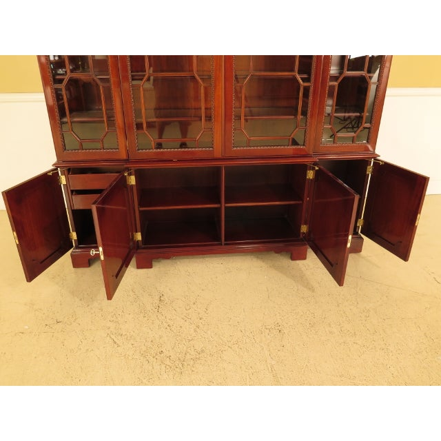 Kindel Four Door Mahogany Breakfront China Cabinet For Sale - Image 9 of 13