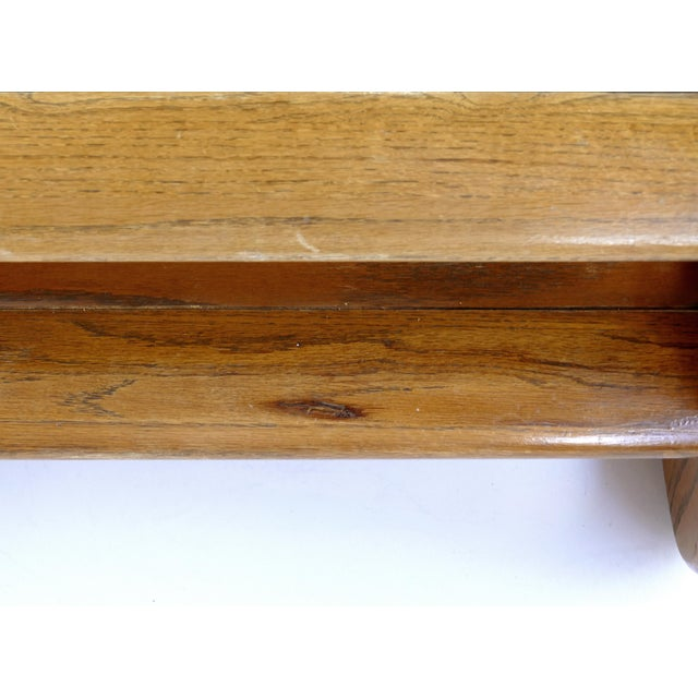 Wood Lou Hodges Mid-Century Modern California Coffee Table With Inset Glass For Sale - Image 7 of 8