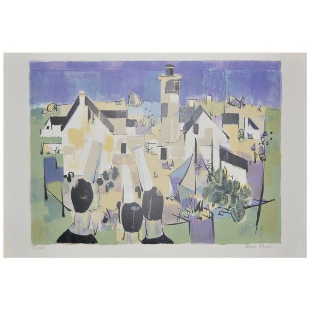 Claude Schurr Color Lithograph C.1950 For Sale