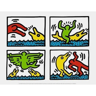 Pop Shop Quad V, Offset Lithograph, Keith Haring For Sale