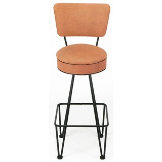 Six Wrought Iron Bar Stools After Frederick Weinberg Preview