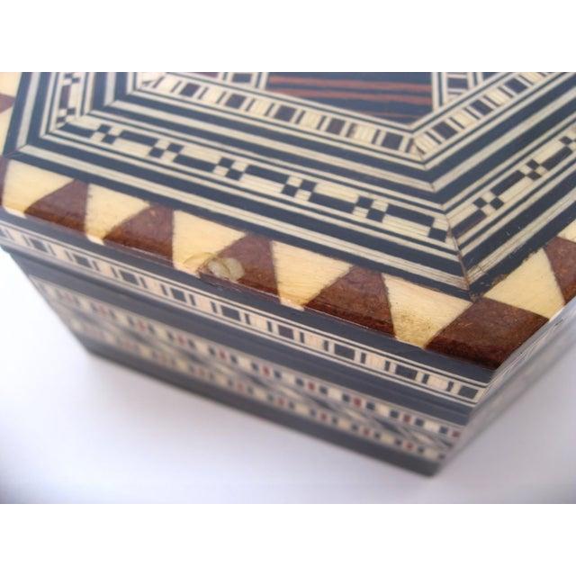 Boho Chic Inlay Wood Box - Image 7 of 8