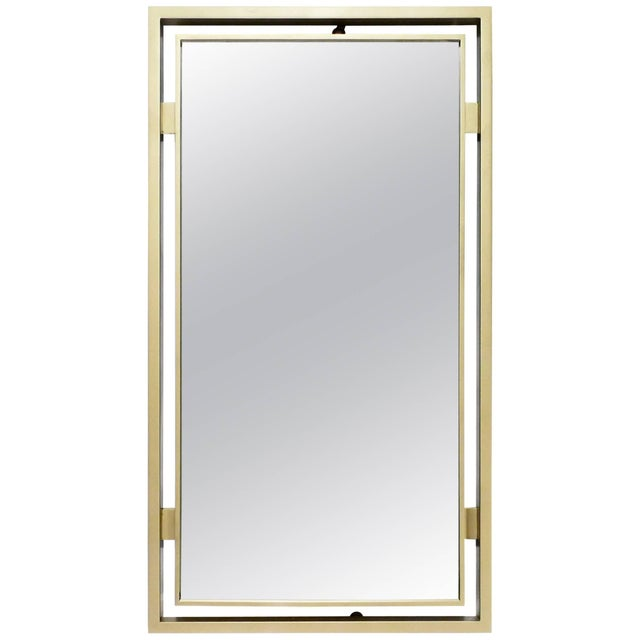 Metal Brass Mirror by Guy Lefevre for Maison Jansen, 1970s For Sale - Image 7 of 7