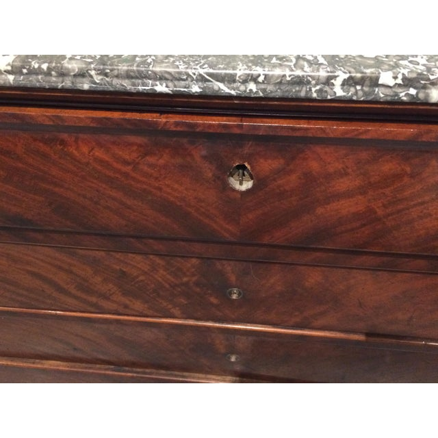 French Louis Philippe Three Drawer Desk Commode For Sale - Image 3 of 11