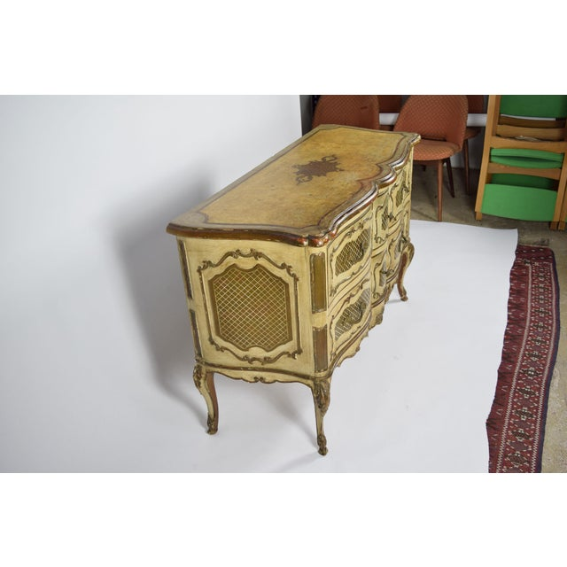 Italian Rococo Style Painted Commode For Sale - Image 4 of 10