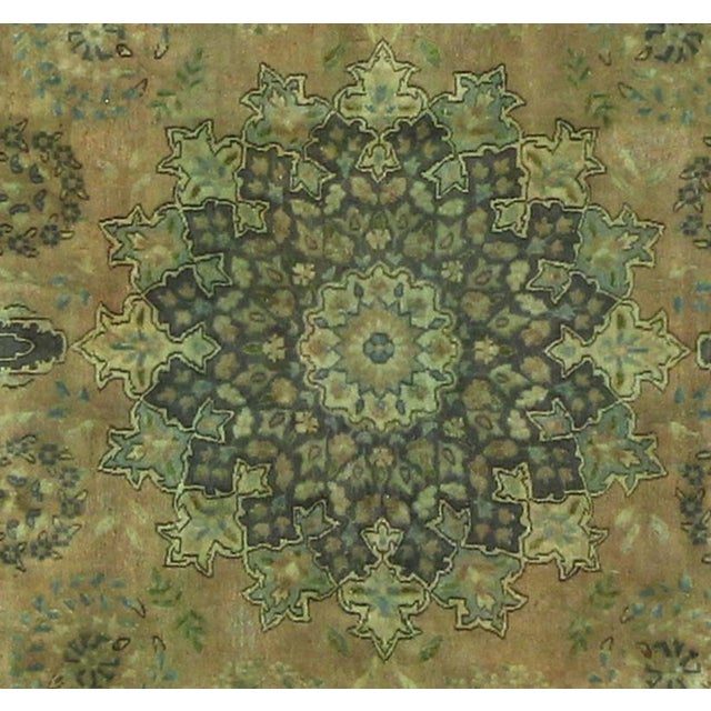 Contemporary Over Dyed Color Reform Shakita Lt. Brown/Lt. Green Wool Rug - 7'9 X 11'4 For Sale - Image 3 of 7