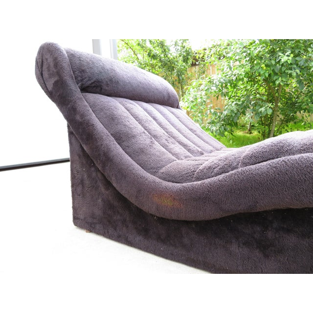 Mid-Century Modern 1970s Vintage Adrian Pearsall Style Wave Chaise For Sale - Image 3 of 11