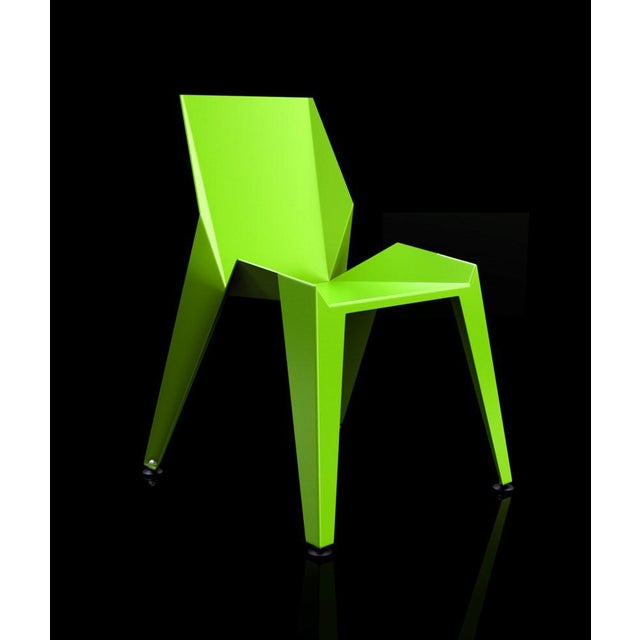 Origami Inspired Edge Green Chair | Indoor & Outdoor Chair For Sale - Image 9 of 9