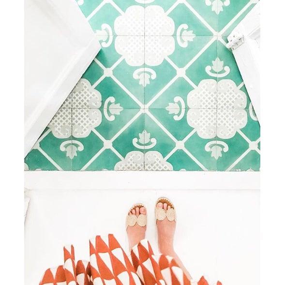 Celerie Kemble Folly Hardwood Tile - Sample Tile For Sale - Image 4 of 6