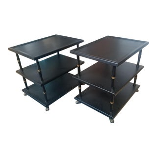 Hollywood Regency 3-Tier Side Tables - a Pair For Sale
