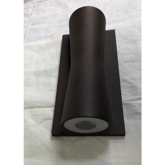 Modern Deep Brown Clessidra Outdoor Wall Sconce by Flos For Sale - Image 3 of 7