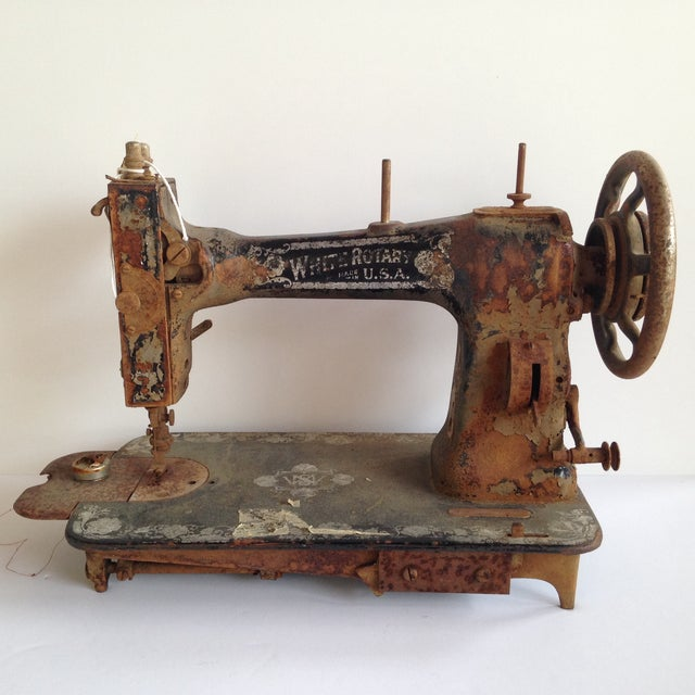 Antique White Rotary Sewing Machine - Image 2 of 4
