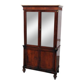 20th Century Italian Directoire Style Marble Top Cabinet For Sale