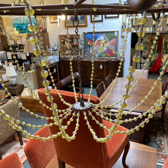 Mid 20th Century 1940's French Six Light Chandelier For Sale In San Francisco - Image 6 of 13