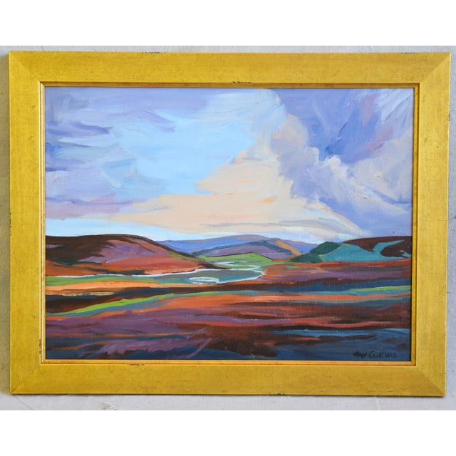 Gold Ray Cuevas, Plein Air River Landscape Oil Painting For Sale - Image 7 of 8