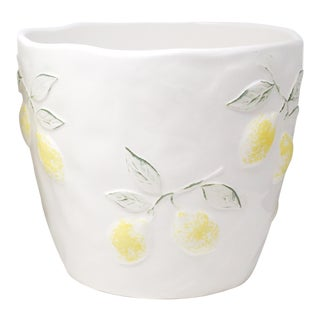 Large Portuguese Ceramic Lemons Planter Made in Portugal - 2 Available For Sale