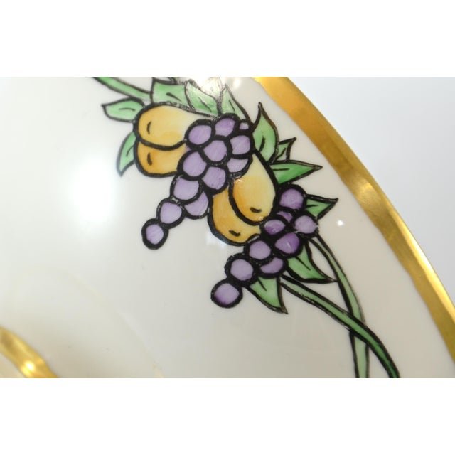 French Provincial Haviland Hand Painted Bowl For Sale - Image 3 of 7