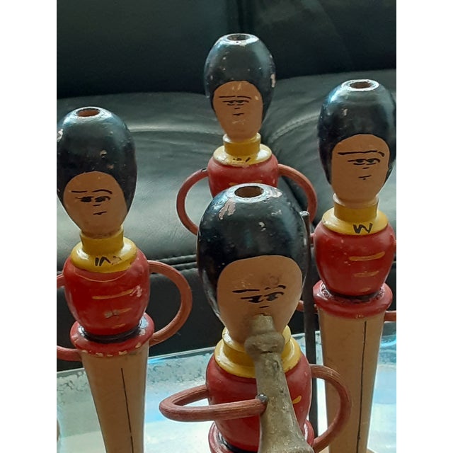 Early 20th Century Early 20th Century Wooden Royal Guarhdsmen/ Band Members Toy Decor - Set of 8 For Sale - Image 5 of 6