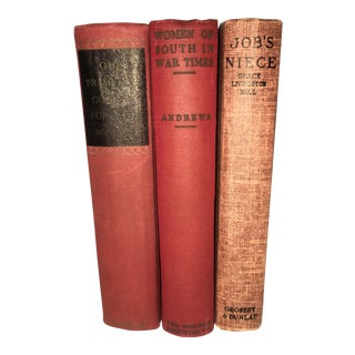 Vintage Red Books - Set of 3