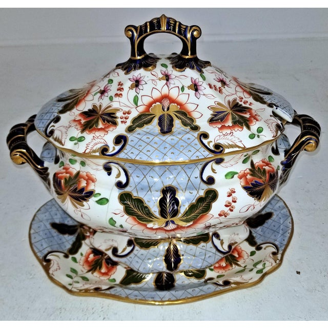 Large Early 19c Davenport Longport Imari China Dinner Service For Sale - Image 13 of 13