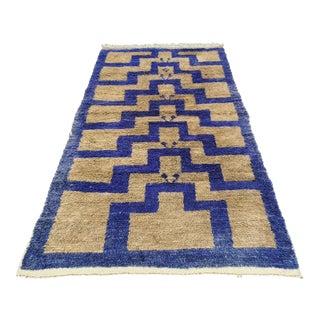 1970s Geometric Turkish Hand-Knotted Konya Tulu Rug For Sale
