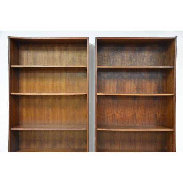 Large Walnut Bookcases- A Pair For Sale In Boston - Image 6 of 10