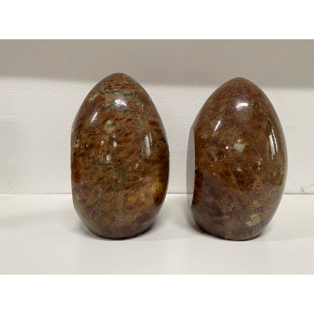 1970s Vintage Italian Marble Egg Bookends - a Pair For Sale - Image 5 of 12
