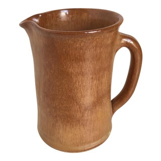 Vintage Art Pottery Pitcher Vase For Sale