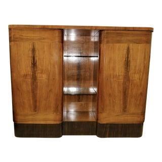 Antique Walnut & Macassar Ebony Biedermeier Cabinet For Sale