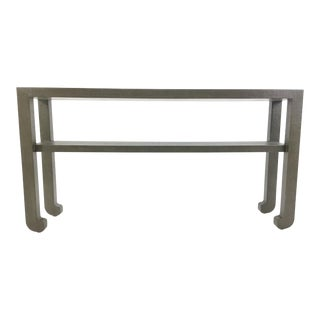 Made Goods Askel Grey Raffia Console Table For Sale