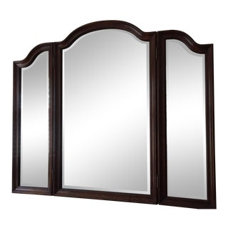 1990s Traditional Lexington Mahogany Triple Mirror for Dresser For Sale