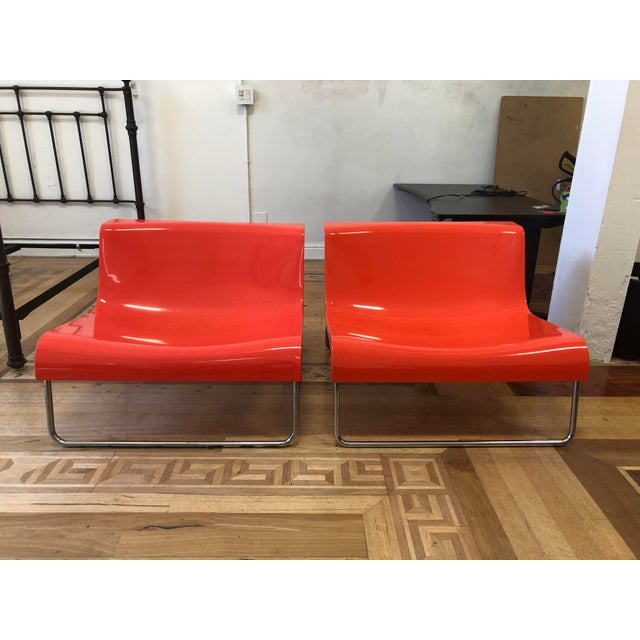 Kartell Piero Lissoni Orange Form Lounge Chairs - a Pair For Sale - Image 10 of 10