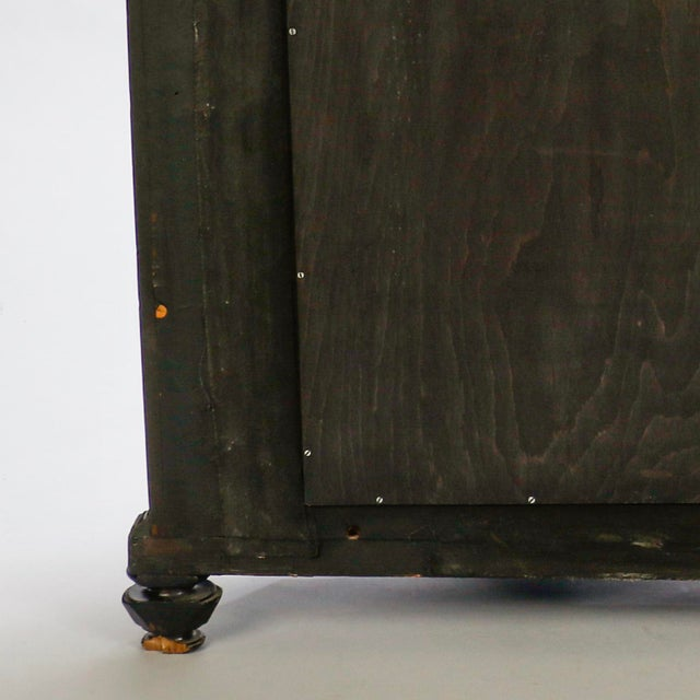Black Italian Ebonised Mahogany Console with Mirrored Back For Sale - Image 8 of 10