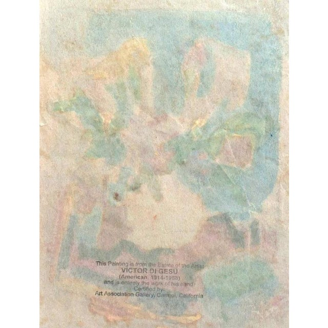 'Still Life of Spring Flowers' by Victor DI Gesu, Post-Impressionist California Artist, Louvre For Sale - Image 4 of 5