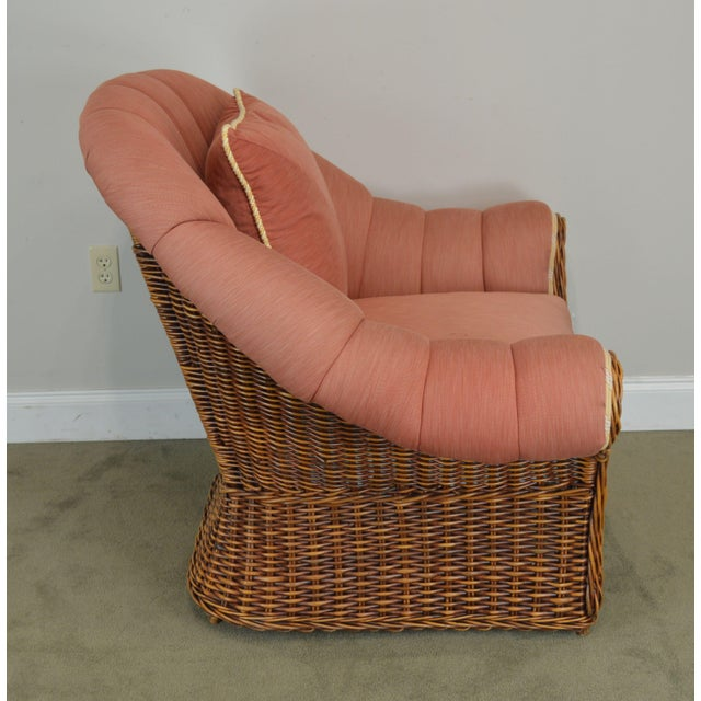 Early 21st Century Pierce Martin Quality Pair Rolled Arm Wicker Lounge Chairs For Sale - Image 5 of 13