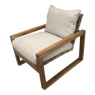 Noir Martin Teak Accent Chair For Sale