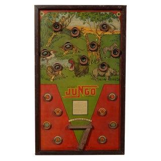 Antique Jungo Bagatelle Game Board For Sale