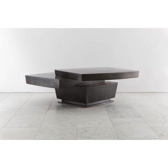 Metal Gary Magakis, Stacked Low Table, USA, 2016 For Sale - Image 7 of 7