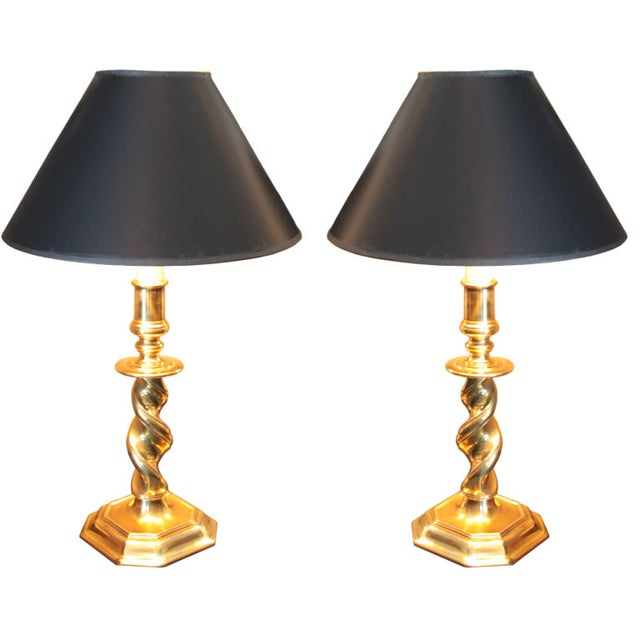 Stiffel Brass Lamps - Pair - Image 1 of 2
