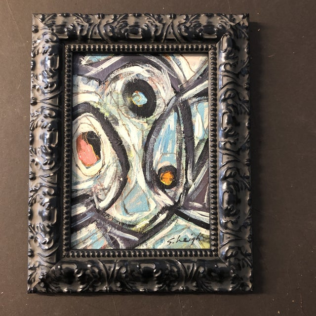 """2010s Original Contemporary Small Stephen Heigh Abstract Painting """"All Together Now"""" For Sale - Image 5 of 5"""