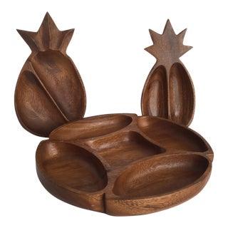 Monkey Wood Serving Trays - Set of 3