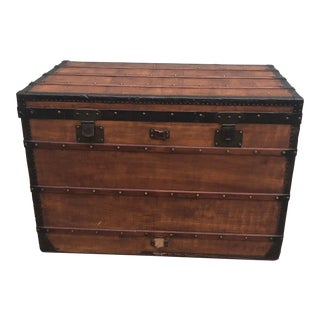 1910s French Louis Vuitton Steamer Trunk For Sale
