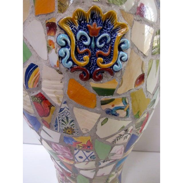 Large Handmade Mosaic Floor Vase Urn - Image 9 of 11