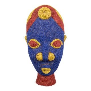 Cameroon African Beaded Terrcotta Head For Sale