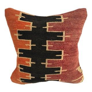 Tribal Anatolian Handmade Traditional Turkish Kilim Pillow For Sale